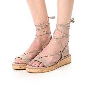 FRYE Miranda Gladiator Platform Sandal Ash